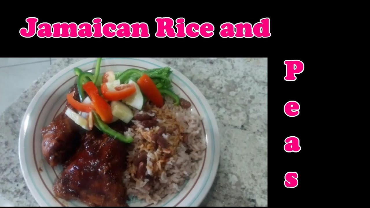 how to cook jamaican rice and peas  youtube