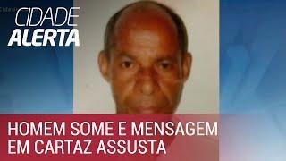 Caso Umberto: mensagem em cartaz manda procurar desaparecido em poço