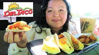 Del Taco Breakfast Mukbang New Double Cheesy Tacos