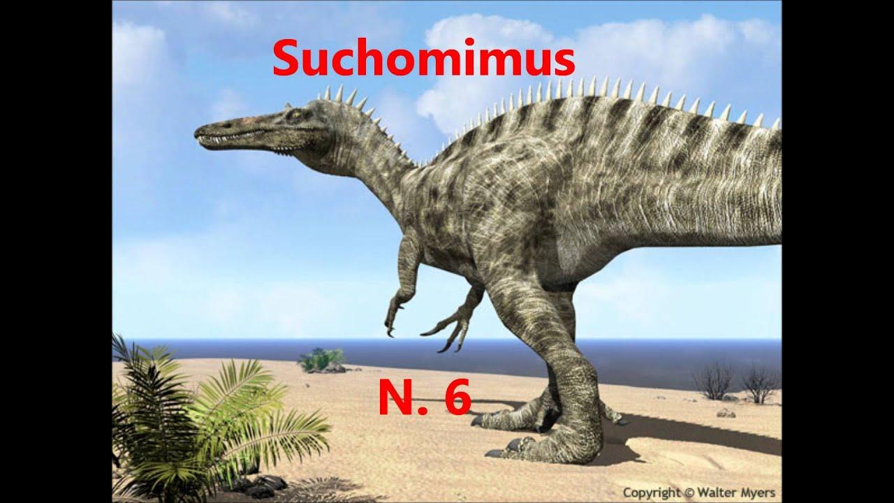 Top 10  Los Dinosaurios Carnivoros mas largos  HD