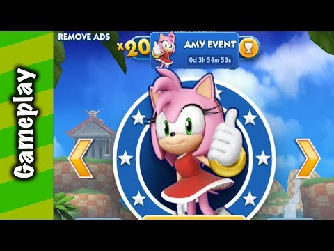 Sonic Dash - Amy Token Challenge Gameplay