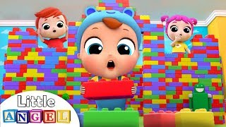 Playtime with Building Blocks | Little Angel Nursery Rhymes and Kids Songs