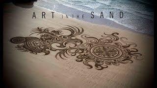 40 best beach sand art | mysterious sand murals
