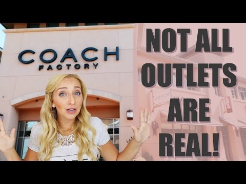 Outlet Mall Shopping: NOT ALL OUTLETS ARE REAL!