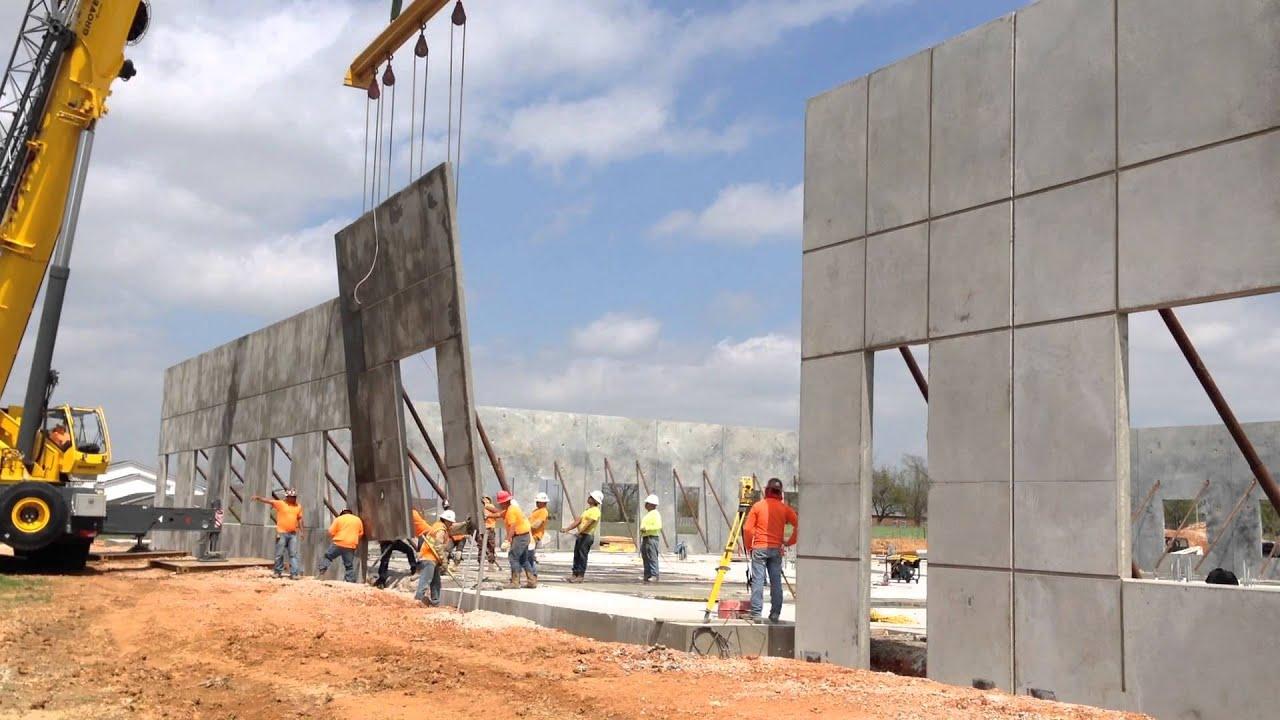 Concrete Tilt Wall Panel Installation Youtube