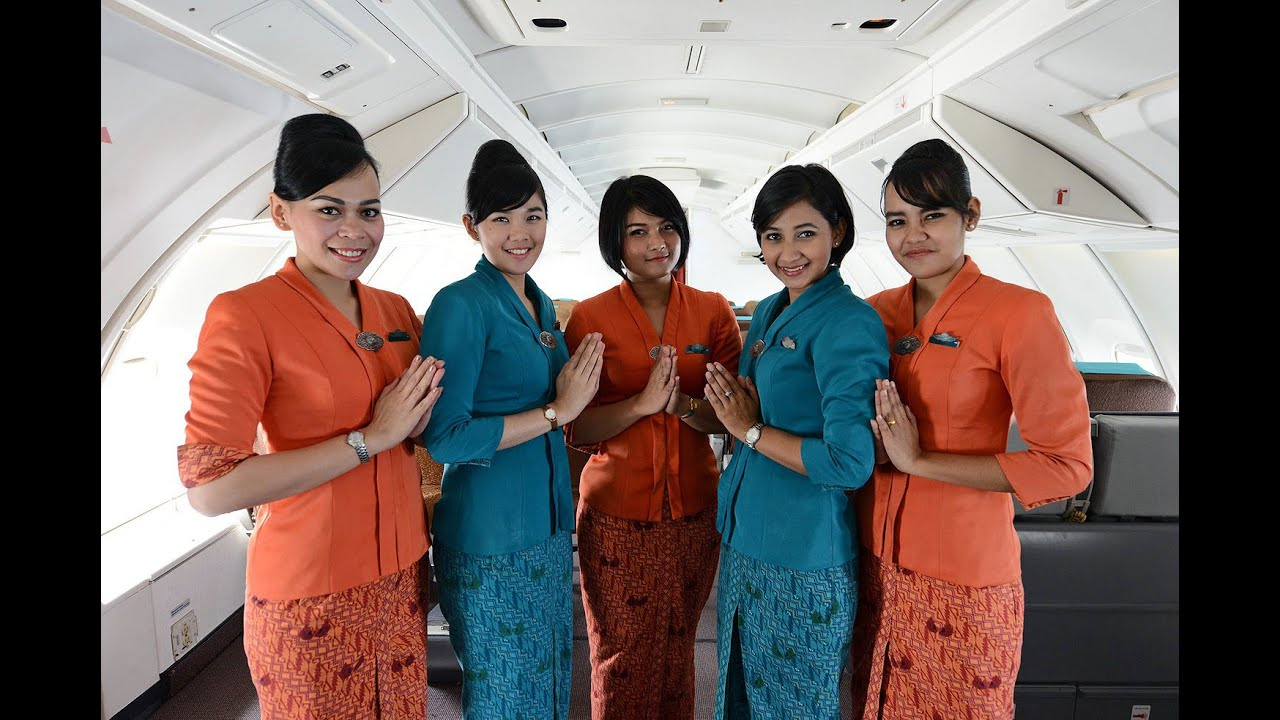 Image result for Garuda Indonesia cabin crew uniform