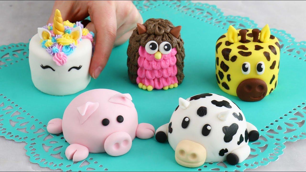 Mini ANIMAL CAKES Cutest Cakes EVERRR