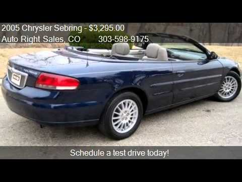 2005 chrysler sebring touring convertible for sale in commer youtube. Black Bedroom Furniture Sets. Home Design Ideas