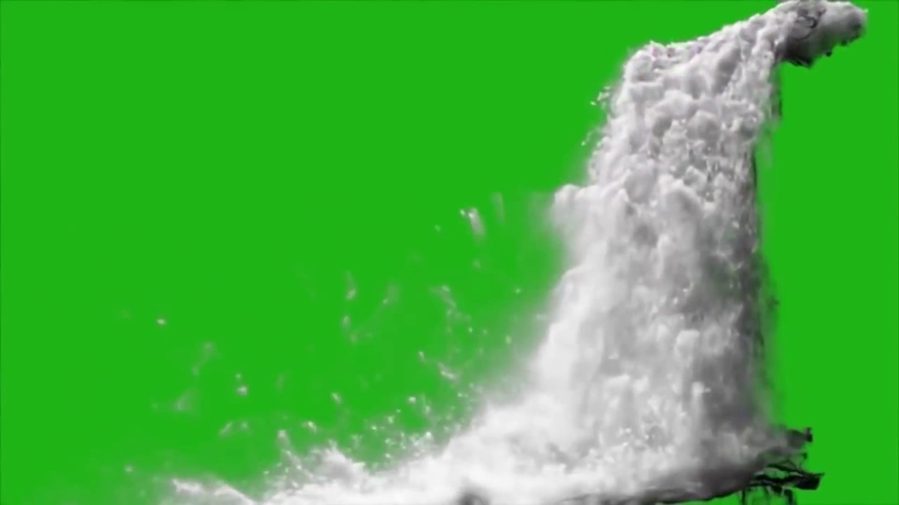 Waterfall Realistic Simulation - green screen footage