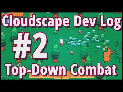 Cloudscape Game Dev Log # 2 - Top-down Zelda Combat and Enemy AI