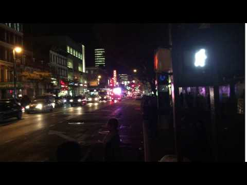 FDNY EMS AMBULANCE RESPONDING ON 125TH STREET IN THE HARLEM AREA OF MANHATTAN IN NEW YORK CITY.