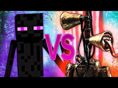 СИРЕНОГОЛОВЫЙ SCP VS ЭНДЕРМЕН МАЙНКРАФТ 📢 Siren head ПРОТИВ Enderman Minecraft РЭП
