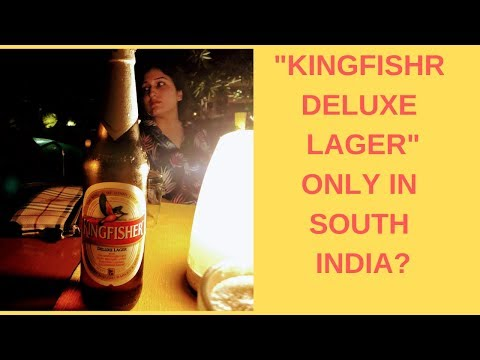 KINGFISHER DELUXE LAGER BEER REVIEW : ONLY IN SOUTH INDIA?