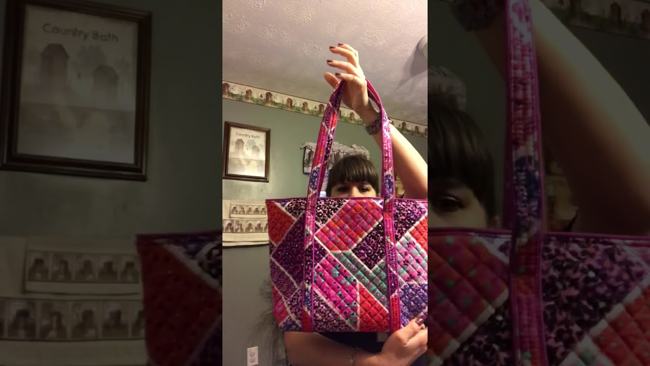 20657eac6 Vera Bradley small iconic tote review - YouTube