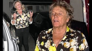 Rod Stewart, 73, enjoys family dinner in LA with ex-wife Alana and son Sean, 37 - 247 News