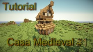 minecraft casa medieval tutorial