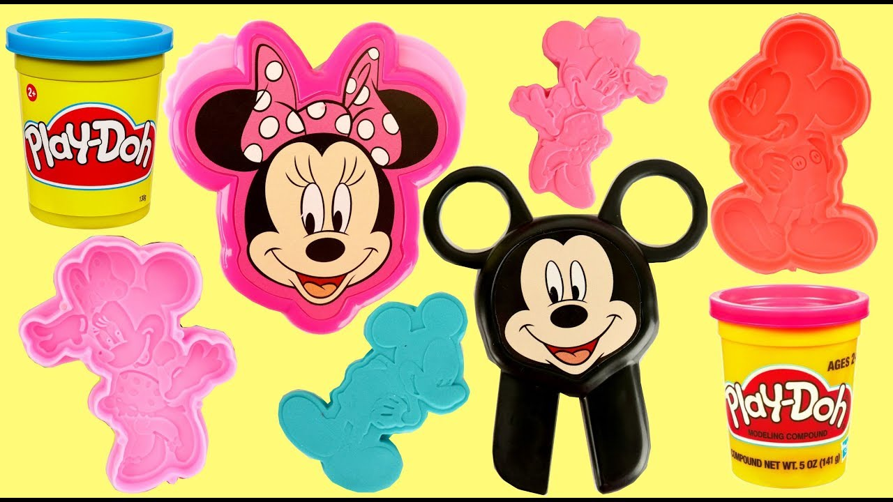 Play Doh Minnie And Mickey Mouse Stamp Mold Cut Set For Kids