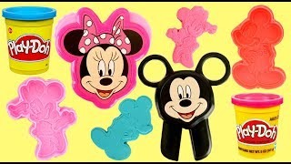 Play-doh Minnie and Mickey Mouse Stamp, Mold & Cut Set for Kids