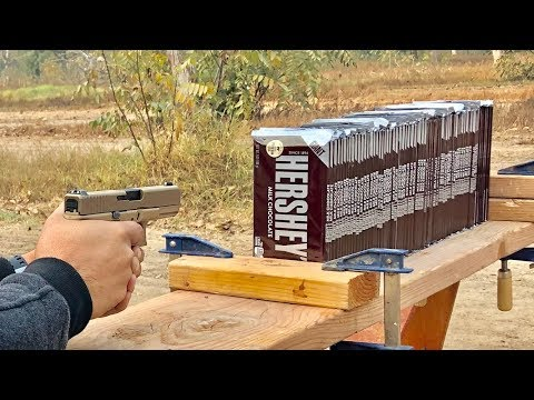 How Many Hershey's Chocolate bars does it take to stop a bullet?
