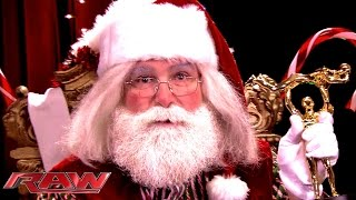 Santa Claus has a special message for holiday shoppers: Raw, December 8, 2014
