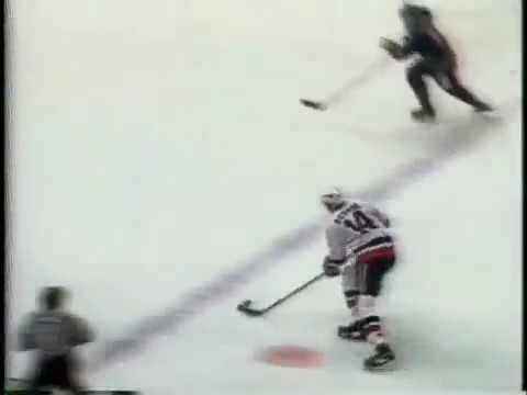 January 4 1983 Sabres at Islanders Bob Bourne beats Bob Sauve with perfect Slap Shot