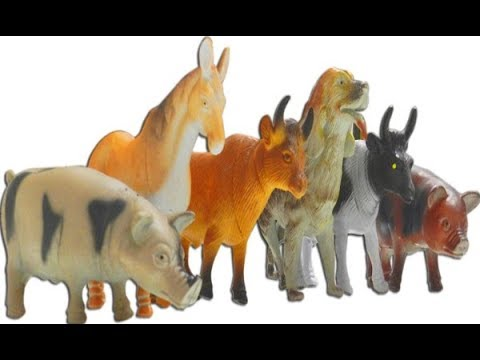 Farm Animals Terra Fun Toys For Kids Cows Sheep Donkey Goat And