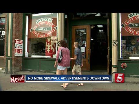 Nashville Removes Sidewalk Advertisements