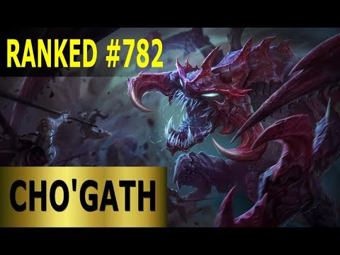 Cho'Gath Jungle - Full League of Legends Gameplay [German] Lets Play LoL - Ranked #782