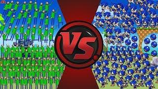 1 Million BALDIS vs 1 Million SONICS! (Sonic vs Baldi's Basics Animation) Baldi Animation Meme
