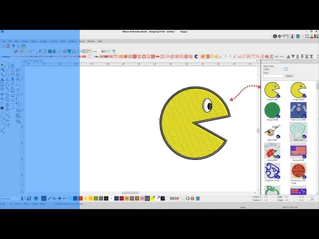 How to add an Embroidery design file to Wilcom Clipart