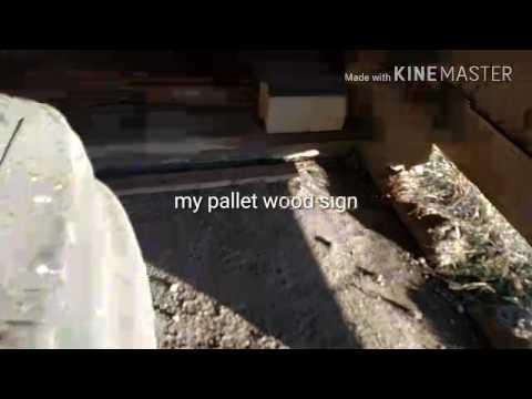 DIY Pallet wood sign Iowa Hawkeyes