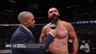 UFC Сан Антонио: Андрей Орловский - Слова после боя