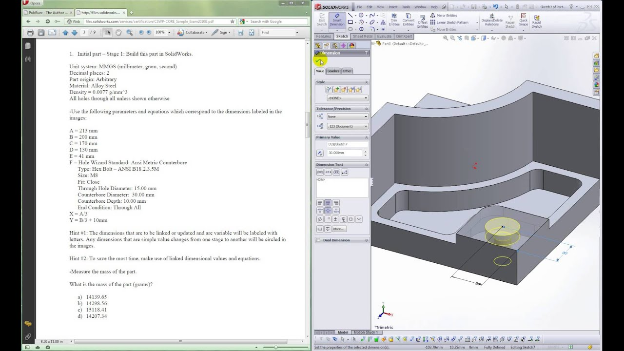 SolidWorks Preparing for the Professional Certification Exam - YouTube