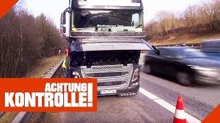 LKW-Panne auf Autobahn! Findet der Truckservice den Defekt? | Achtung Kontrolle | kabel eins