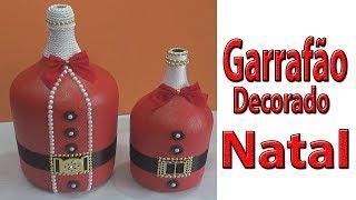 Garrafão decorado de natal