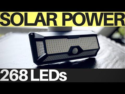 AMAZING Solar Light 268 LED Motion Sensor for OutDoor – SUPER Bright + Water Resisant