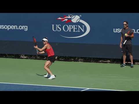 LIVE US Open Tennis 2017: Simona Halep and Shelby Rogers Practice