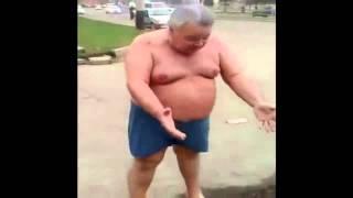 Пьяный толстый мужик  и здоровый образ жизни ! Толстяк упал.Алкаши прикол.
