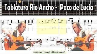 Tablatura Rio Ancho -  Paco de Lucia