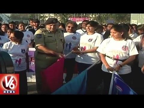 Cyberabad CP Sandeep Shandilya Flags Off She Walk At Gachibowli | Hyderabad | V6 News