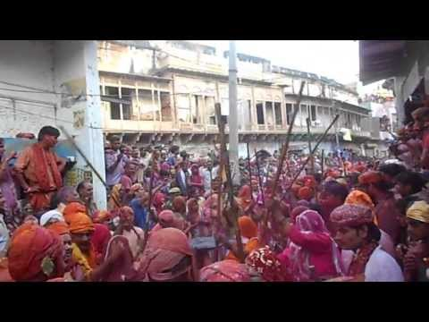 Lathmar Holi: Colourful Hindu festival where women beat men with sticks