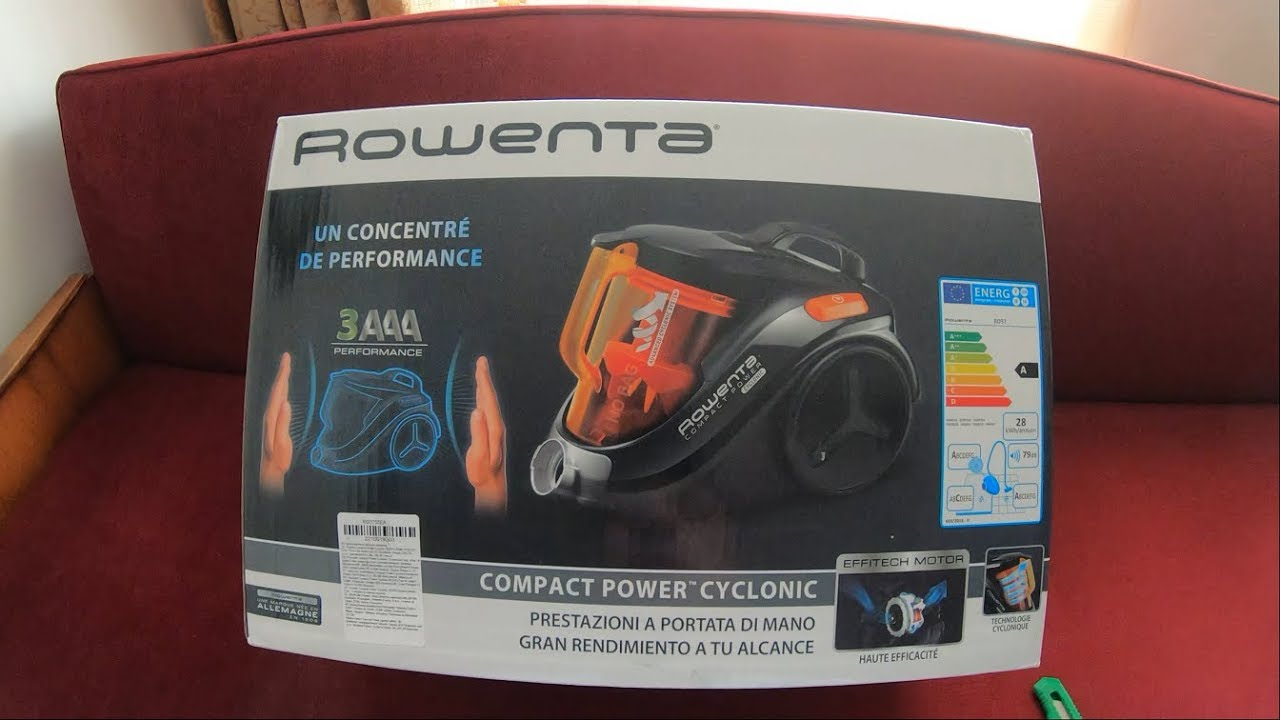 Rowenta Ro3753ea Compact Power Cyclonic Vacuum Cleaner Youtube