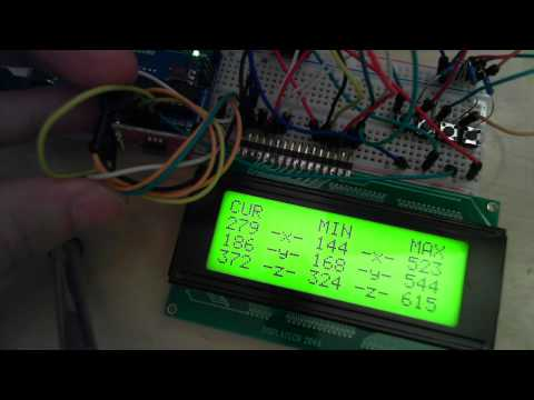 Accelerometer ADXL335 Fast Test and Angle Test