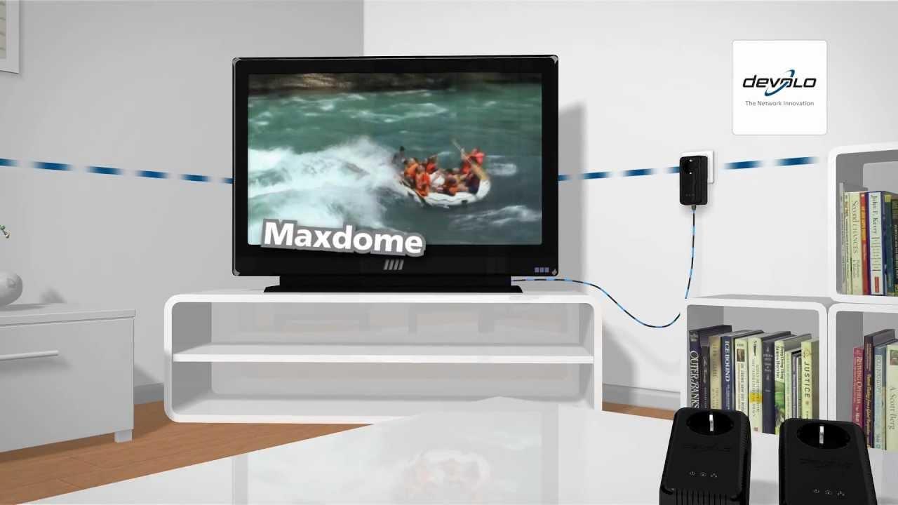 Devolo Dlan Home Internet To Tv Set Youtube