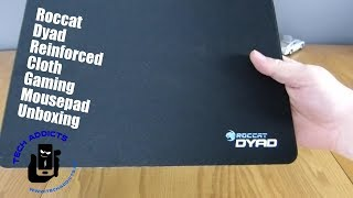 Roccat Dyad Reinforced Cloth Gaming Mousepad Unboxing