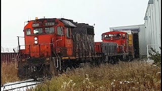 Awesome Old Fashioned CN Action and Classic Locomotives at the Tuxedo Industrial (11/08/2017)