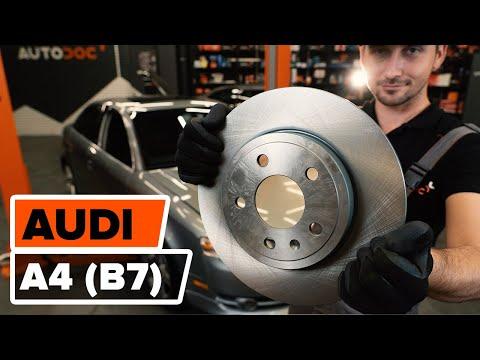 Как заменить задние тормозные диски на AUDI A4 (B7) [ВИДЕОУРОК AUTODOC]