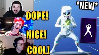 """Streamers React to *NEW* """"Glowsticks"""" Emote! *EPIC*   Fortnite Highlights & Funny Moments"""