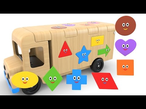 Thumbnail: Learn Shapes with Wooden Truck Toy - Colors and Shapes Videos Collection for Children