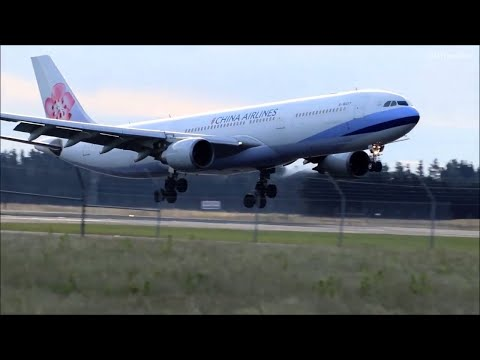 China Airlines Evening Landing from Melbourne